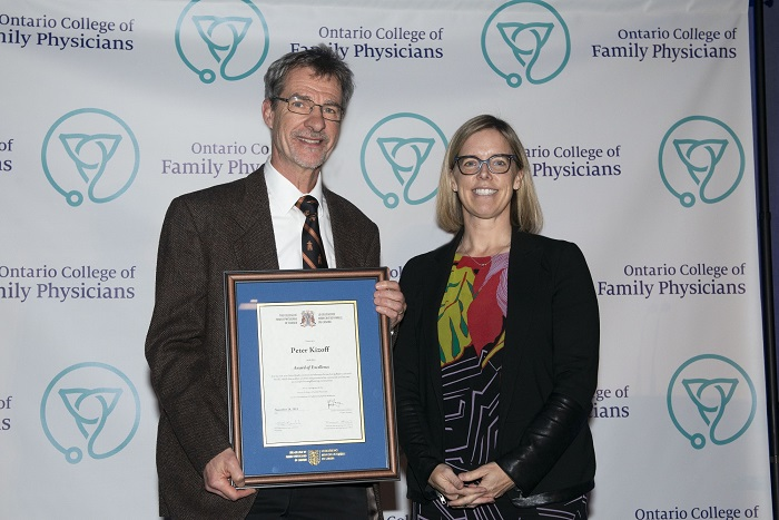 Dr Peter Kizoff OCFP 2019 Award of Excellence