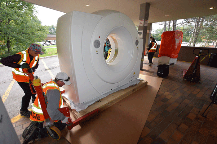 GBGH's new CT scanner makes a big entrance