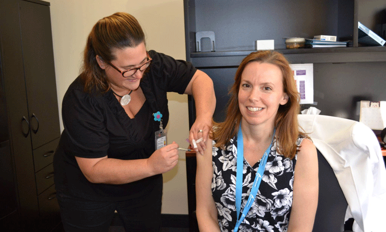 GBGH team receives flu shots for safety's sake