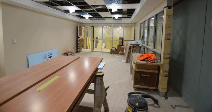 Mise à jour de la construction du la salle d'urgence de l'HGBG