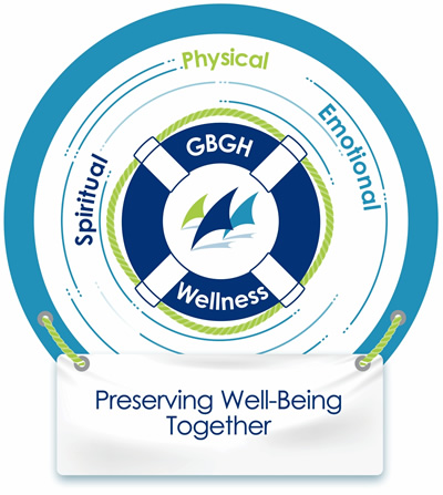 GBGH Wellness Committee logo: Preserving Well-Being Together