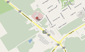 Map to Midland site
